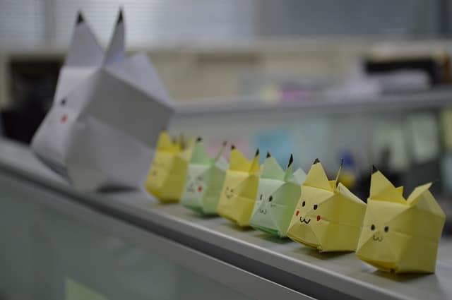 فن طي الورق - اوريغامي